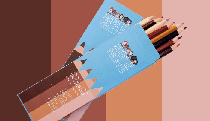 """Pinturas """"color carne"""" con distintos tonos de piel para fomentar la tolerancia en las aulas"""